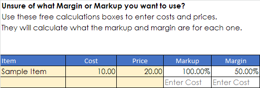 margin calculator excel template