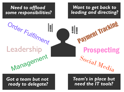 diagram showing the multitude of skills and functions a business owner must perform
