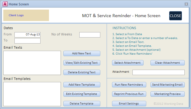 ms access work order template database