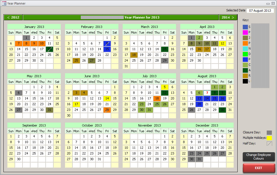 A Microsoft Access Holiday Planner