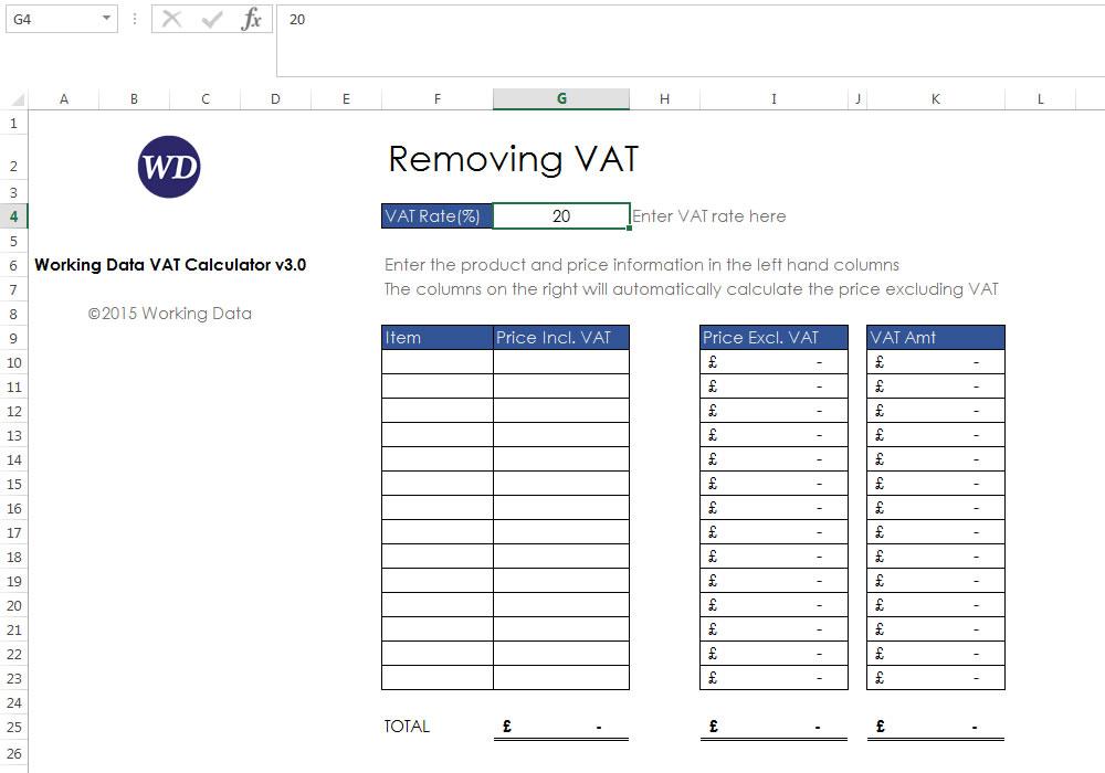 Vat calculator adding vat and removing vat free download.