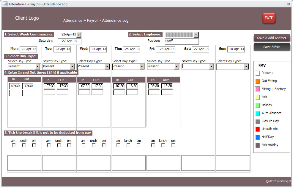 ms access timesheet elita aisushi co